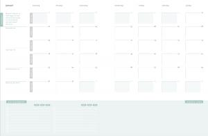 maandplanning - overzicht en balans
