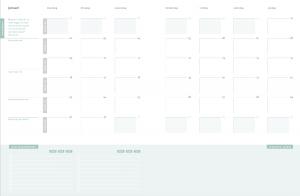 de maandplanning - voor overzicht en balans