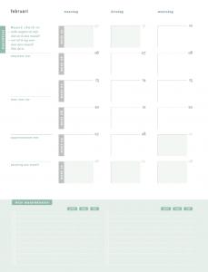 maandplanning maken
