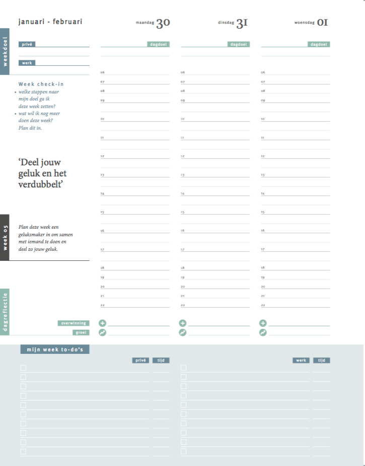 je week plannen met de purpuz planner