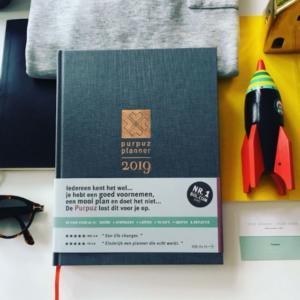 Purpuz Planner 2019, agenda en planner 2019 - grijs