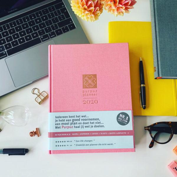 Purpuz Planner 2020 - Planner 2020 Agenda 2020 en Life Coach in één Pink- Cover(1)