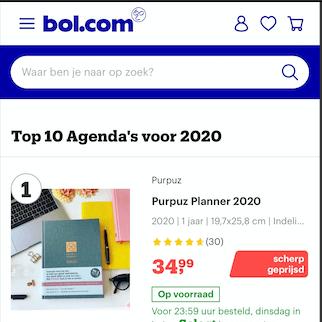 Purpuz Planner 2020 - Bol numer 1