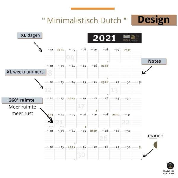 Jaarplanner 2021 - weekplanner