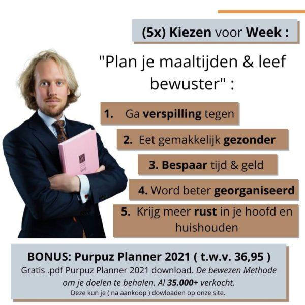 Maaltijdplanner - Voordelen