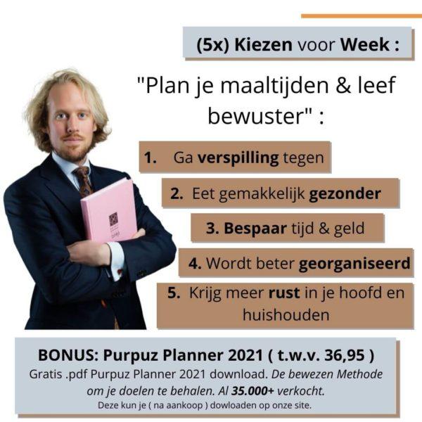 Waarom kiezen voor de Meal planner - Maaltijdplanner