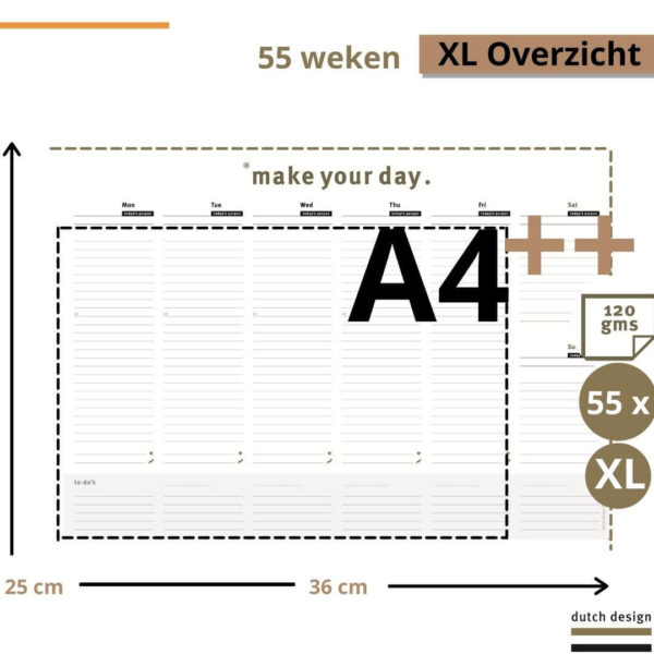 Deskplanner - Desk planner afschuurbaar (2)